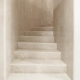 Stairs, Wall Cladding: Massello Honed