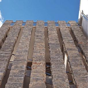 Solid Columns: Ambrato Rock Face