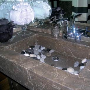 Washbasin: Ambrato Silk