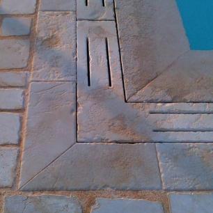 External Floor Tiles: Tango Opus Antique / Edge and Drain: Egnatia