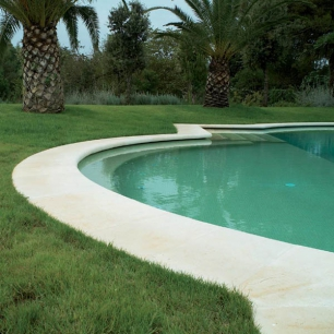 "Pool Coping: Genius ""Water"" Fine Bushammerd"